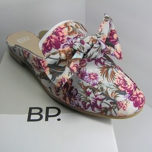 NORDSTROM BP Floral Maddy Mule Bow Slip On 7.5